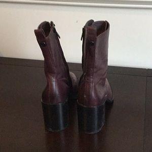 Frye Shoes - Frye Pia Combat 76705 Wine 8.5